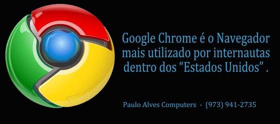 O Google Chrome é o Browser mais utilizado pelos internautas nos EUA.